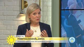 Finansminister Magdalena Andersson (S) grillades av förstagångsväljarna - Nyhetsmorgon (TV4)