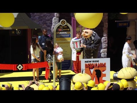 Despicable Me Minion Mayhem Grand Opening At Universal Studios Hollywood With Gru, Minions video