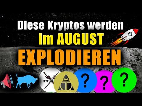 Top 5 Kryptowährungen die im AUGUST 2021 explodieren (SKILL, TLM, ...)