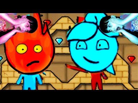 ОГОНЬ И ВОДА Приключения в СВЕТЛОМ ХРАМЕ развлекательное видео для детей игровой мультик Валеришка