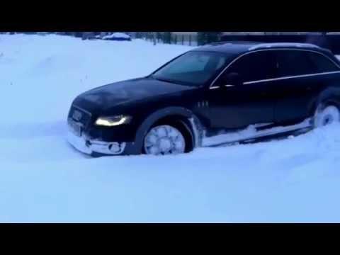 Audi A4 allroad, зимний тест-драйв
