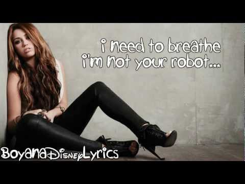 Miley Cyrus - Robot (lyrics Video) Hd video