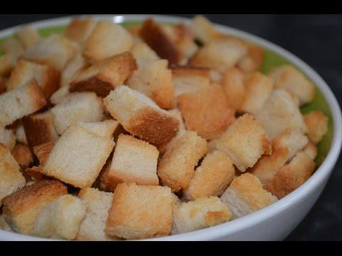 Как приготовить сухарики в духовке - видео