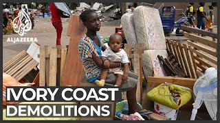 Ivory Coast demolitions: Shanty town near airport cleared