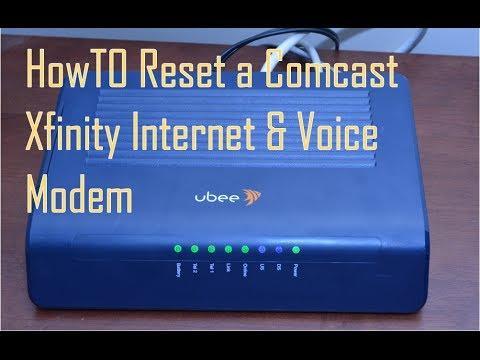 How to Reset Comcast Xfinity Internet & Voice Modem
