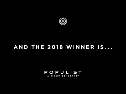 And the 2018 POPULIST Winner Is...