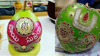 Decorative idea of coconut decoration for wedding || coconut decoration