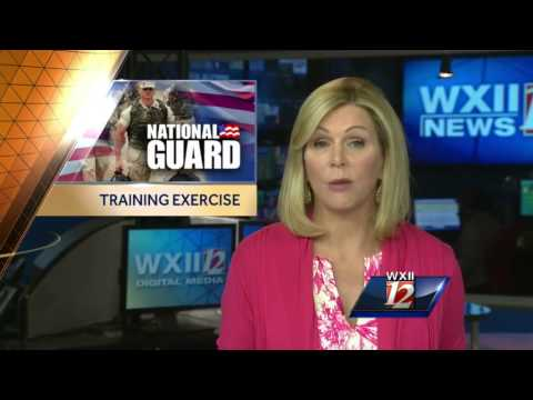 National Guard training exercise at the Colonial pipeline tank farm this weekend