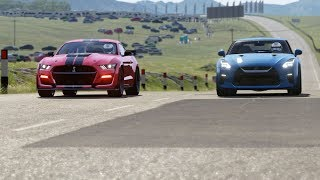 2020 Ford Mustang Shelby GT500 vs Nissan GT-R '17 at Highlands