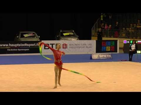 Maria Titova, Ribbon, Russia Berlin Masters 2013, Grand Prix Serie, Rhythmic Gymnastics All Around Qualification, Round 2, Participant 19 Saturday, October 1...