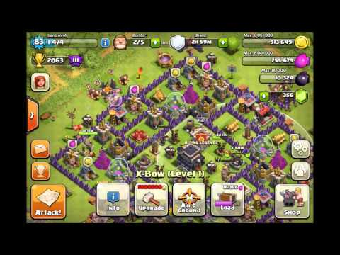 Best Clash of Clans Defense - Town Hall 9 Base (Trophy Base That Protects Resources!)