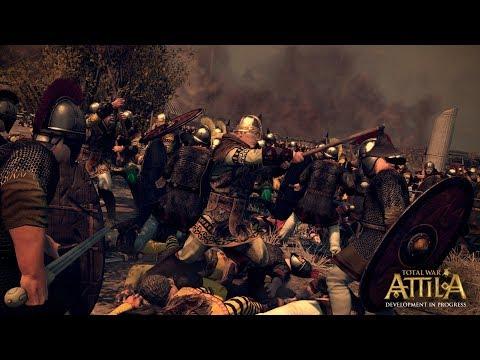 Total War Attila стенка на стенку №2