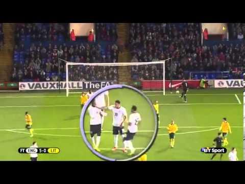 FIGHT Ravel Morrison with Wilfried Zaha (England U21)