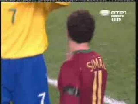 Jogo Amigavel realizado em Londres (Emirates Stadium). Onde Portugal vence.