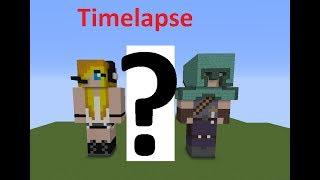 Skin de PsychoGirl et Little Square Face (de Minecraft Jams) + ma touche personnelle ;) | Timelapse