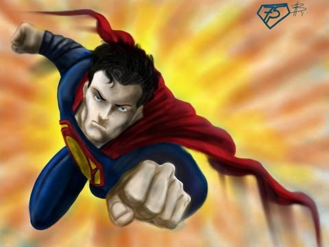 SPEED PAINTING! MAN OF STEEL Timelapse made w/Sketchbook Pro on an iPad2