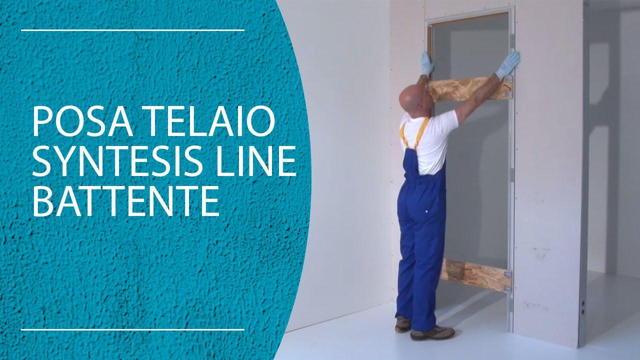 ... filomuro Syntesis line battente (parete in cartongesso) - YouTube