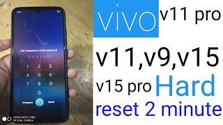 VIVO v11,v11 pro,v9,v15,v15 pro hard reset without pc