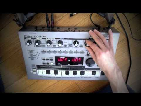 Hard Talk (MC 303). roland mc 303 with kalimba and mini kaoss pad.