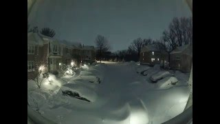 """Snowzilla"" snow blizzard timelapse, Maryland, USA. January 2016."