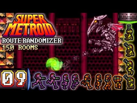Let's Play Super Metroid Route Randomizer [150 Rooms] Part 9 - Die Technik, die Technik!