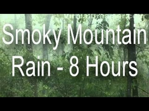 Sound Of Rain : Smoky Mountain Rain In Fog - 8 Hours Long video