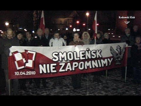 94 Miesięcznica Smoleńska W Krakowie.