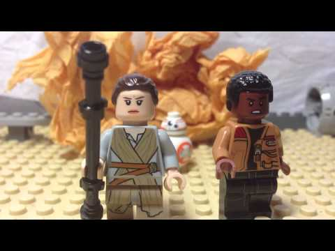 Lego Star Wars The Force Awakens Trailer 2 stop motion animation shot for shot recreation