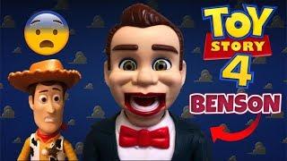 Juguete de BENSON - TOY STORY 4 (ATERRADOR) Muñeco Ventrílocuo - con WOODY Asustado