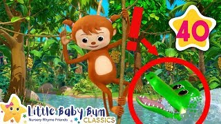 5 Little Monkeys Swinging In The Tree   Little Baby Bum   Baby Songs & Nursery Rhymes   Learning