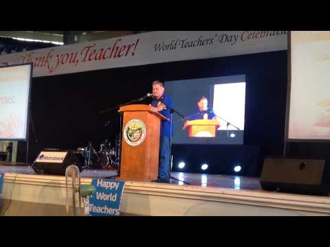 DepEd Secretary Br Armin Luistro salutes Teachers,  celebrates World Teachers' Day