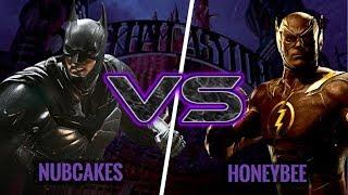 THE BATMAN VORTEX IS REAL! Nubcakes (Batman) vs HoneyBee (Flash)