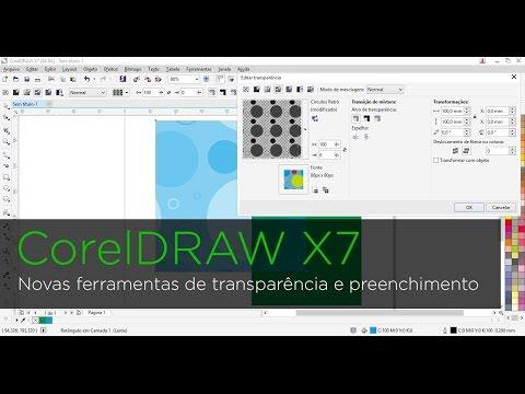 CorelDRAW X7 - Novas ferramentas de transparência e preenchimento
