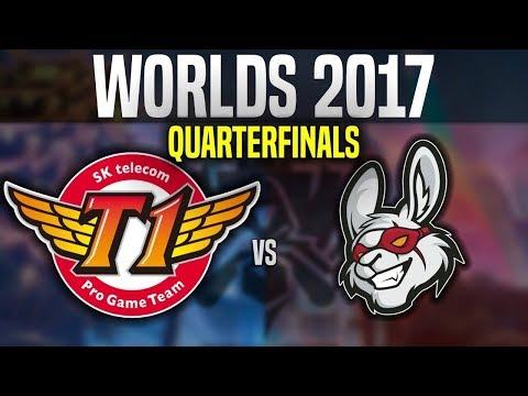 SKT vs MSF - Game 5 - Worlds 2017 Quarterfinals - SKT T1 vs Misfits G5 | Worlds 2017