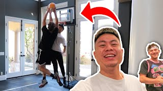 MY FIRST TIME AT THE BUCKETSQUAD MANSION + MINI HOOP 1v1 AGAINST 2HYPE!