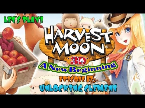 Harvest Moon 3D: A New Beginning - Unlocking Clement and Building a Restaurant