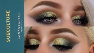 POP OF GREEN GLAM FT. ANASTASIA BEVERLY HILLS SUBCULTURE | Mcdrew