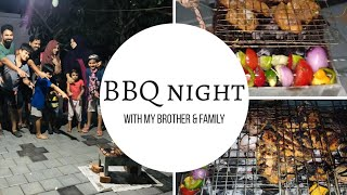 BBQ night with brother &family(Femina and Shajin)couploggers/BBQ Recipe/garlic sauce recipe