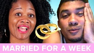 Single People Get Married For A Week • Daysha & Eli