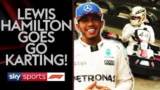 Go Karting with Lewis Hamilton | Lewis v Martin Brundle vs Johnny Herbert