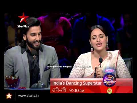 Sonakshi Sinha and Ranveer Singh have some fun with the judges
