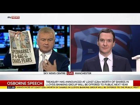 "George Osborne: ""I'm Ashamed To Admit I'm A Plastic Bag User"""