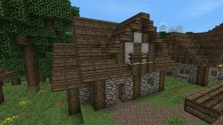 Minecraft Houses on Minecraft  Building Tutorial   Part 5   Medieval Styled Farmers House