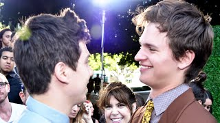 Ansel Elgort On Sharing Girls With Nat Wolff! - INTERVIEW