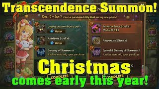 Summoners War - Christmas Packs Summons Session! Splendid Blessing! Transcendence Scroll!