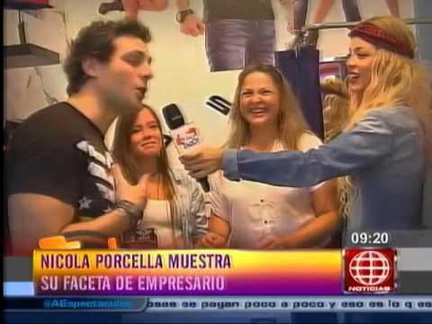 Sheyla Rojas visitó la tienda de ropa de Nicola Porcella
