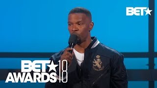 Jamie Foxx On XXXTentacion & Gives Emotional Speech On Combating Violence | BET Awards 2018