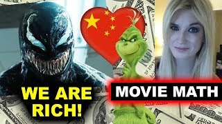 Box Office for Venom China Opening Weekend, The Grinch 2018