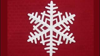 Paper snowflake 1 - Detailed tutorial - Intermediate level - Can YOU do it?
