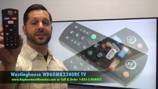 Westinghouse Digital WD60MB2240RC TV Remote - www.ReplacementRemotes.com